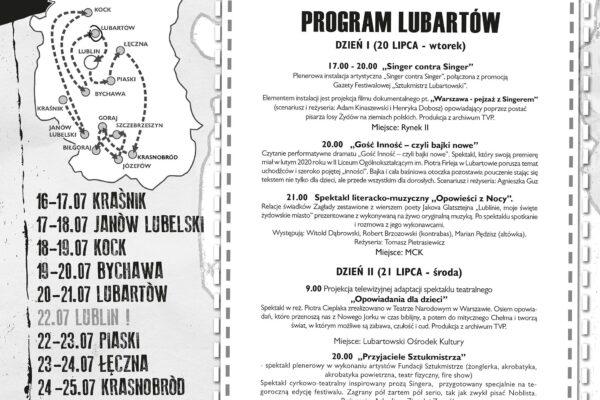 Miniaturka artykułu XI Edycja Festiwalu Śladami Singera – w Lubartowie